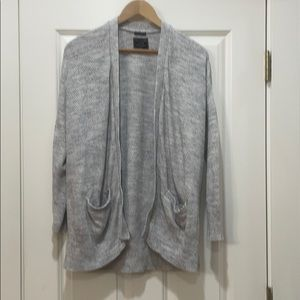 Abercrombie & Fitch cotton grey open front sweater